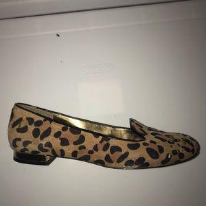 Ann Klein leopard loafers